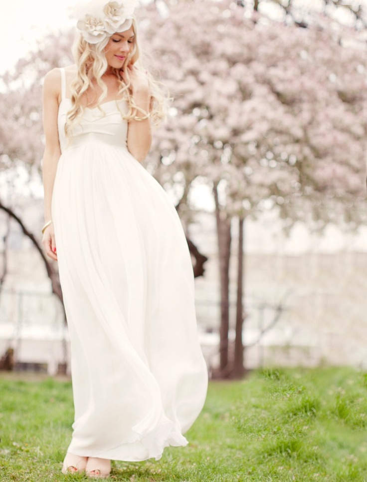 Bridal Gowns For Outdoor Weddings : Off the shoulder empire wedding dresses for outdoor